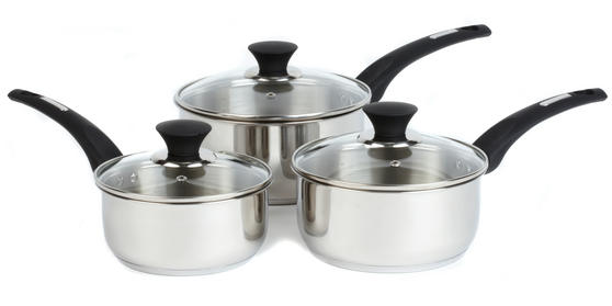 Salter Stainless Steel Elegance 3 Piece Pan Set