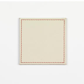 Indulje Luxury Reversible Coasters, 10 x 10cm, Faux Leather, Red/Cream, Set of 4 Thumbnail 2
