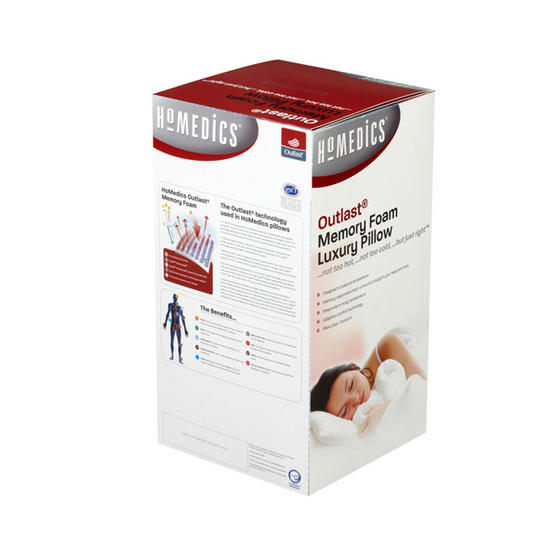 MEMORY FOAM PILLOW Homedics Outlast