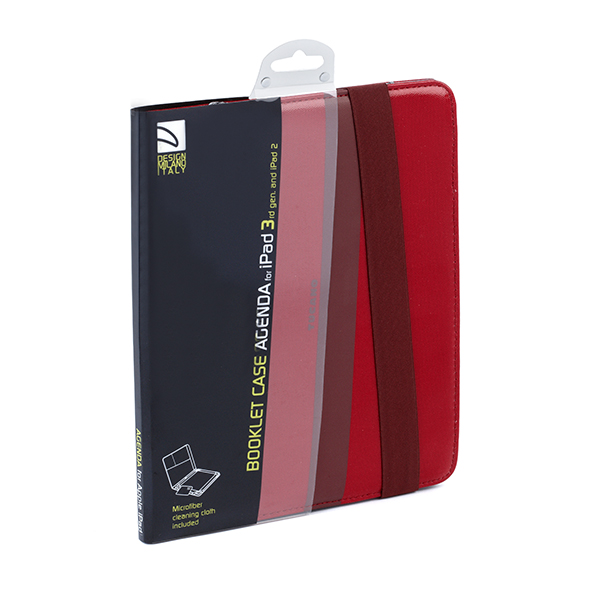 official photos 744b3 ea5e7 Tucano Agenda Booklet Case for Apple iPad 2/3/4 - Red