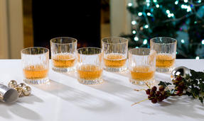RCR Italian Manufactured Crystal Fire Whiskey Glasses Set of 6 Thumbnail 1