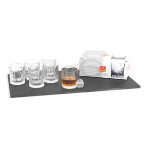 RCR Italian Manufactured Crystal Fire Whiskey Glasses Set of 6 Thumbnail 2