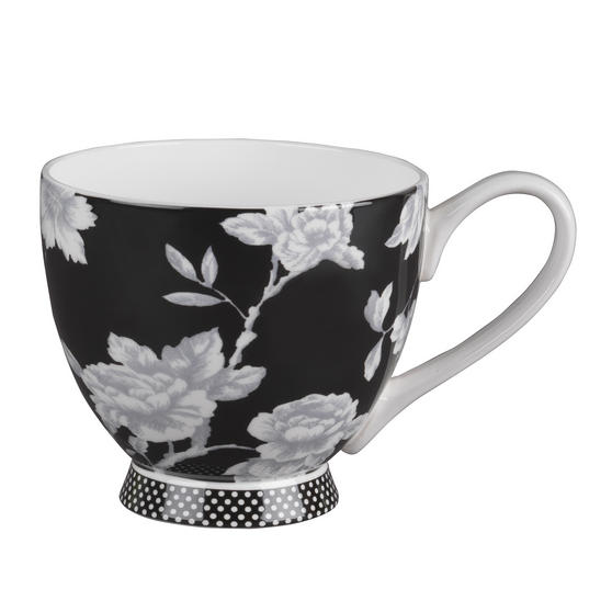 Portobello CM03398 Sandringham Regency Black Fine Bone China Mug