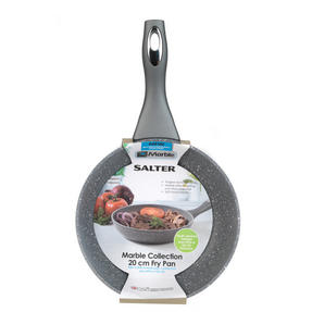 Salter BW02762G Marble Collection Forged Aluminium Frying Pan, 20 cm, Grey Thumbnail 8