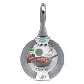 Salter BW02763G Marble Collection Forged Aluminium Frying Pan, 24 cm, Grey Thumbnail 10