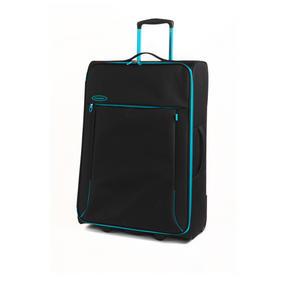 """Constellation 28"""" Superlite Suitcase ? Black with Turquoise Trim"""