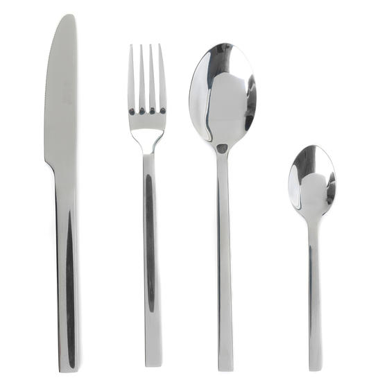 Russell Hobbs BW02842 Deluxe Vermont 16 Piece Cutlery Set, Stainless Steel, 15 Year Guarantee