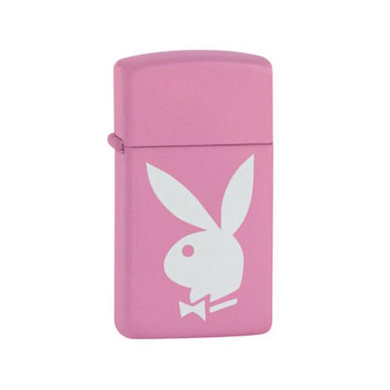 Zippo Ladies Slim Design Playboy Pink & White Lighter In Black Presentation Box | Zippo Lighters ...