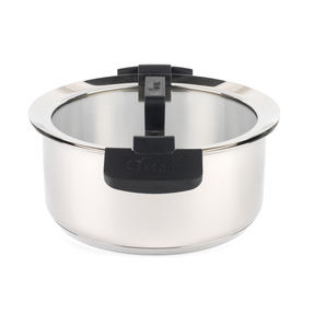 Woll 24cm Stainless Steel Casserole Dish With Glass Lid Thumbnail 2
