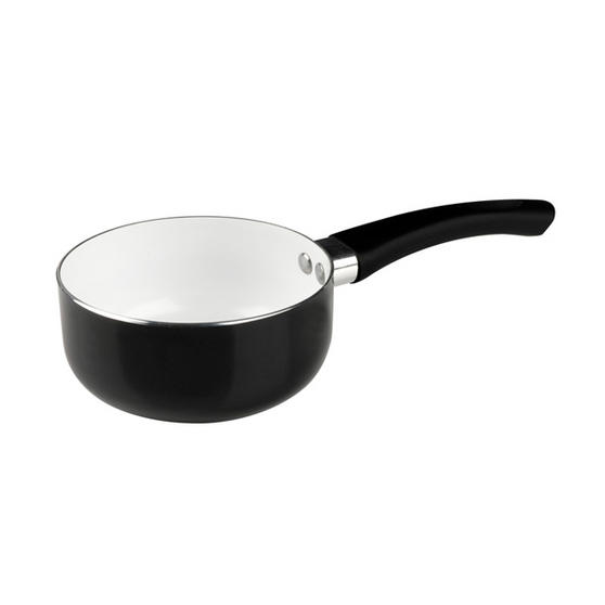 Russell Hobbs CS00945RD Ceramic Coated Milk Pan, 14cm, Black
