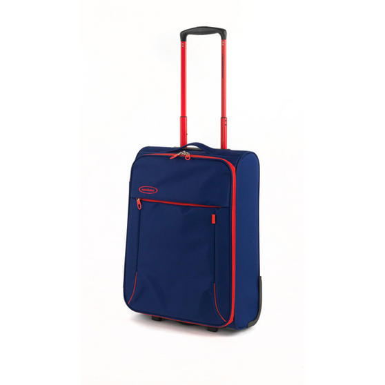 "Constellation 18"" Superlite Suitcase ? Navy with Coral Trim"