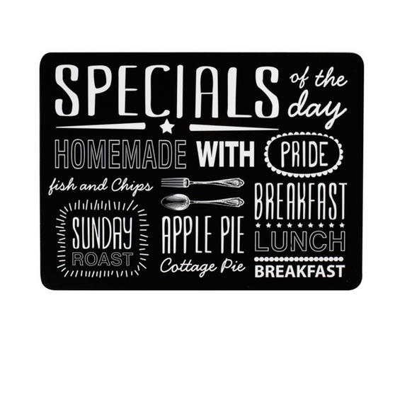 Indulje TW283634 Luxury Dish of the Day Hardboard Placemats, Set of 4