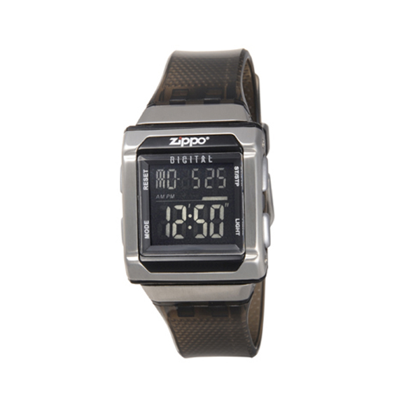 zippo steel square strap watch and plastic black face zi watches faced