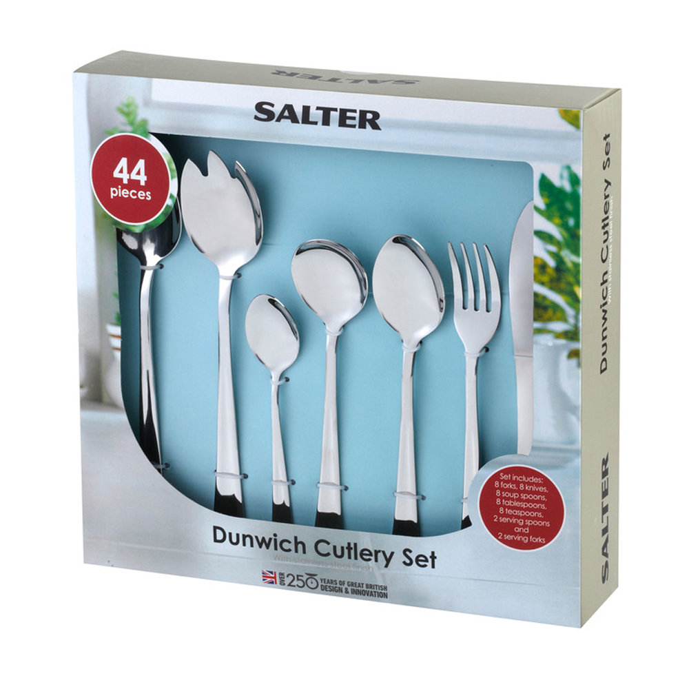 Salter 44 Piece Arundel Stainless Steel Cutlery Set