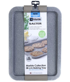 Salter BW02775G Marble Collection Carbon Steel Baking Pan, 38 cm, Grey Thumbnail 2