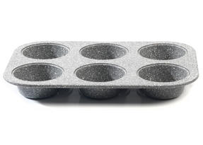 Salter BW02778G Marble Collection Carbon Steel 6 Cup Muffin Baking Pan, 27 cm, G Thumbnail 2