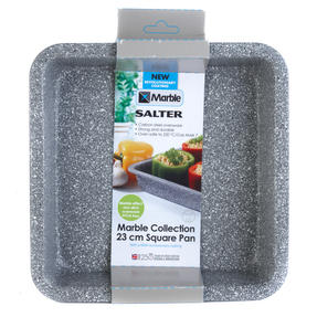 Salter BW02780G Marble Collection Carbon Steel Square Baking Pan, 23 cm, Grey Thumbnail 5