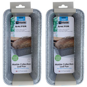 Salter Everest 27cm Grey Marble Coated Loaf pan x 2 Thumbnail 2