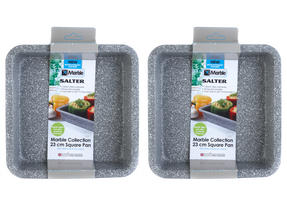 Salter Everest 23cm Grey Marble Coated Square Baking Tray x 2 Thumbnail 2