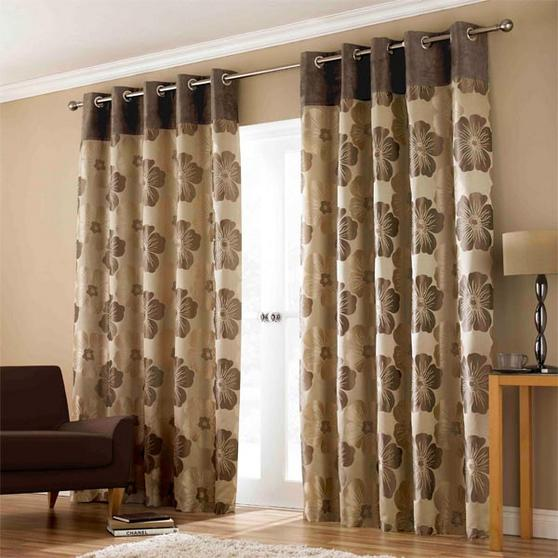 lana ashley wilde curtains floral brown gold beige eyelet lined curtain beige curtain 46 x 54. Black Bedroom Furniture Sets. Home Design Ideas
