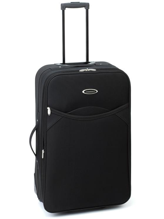 """Constellation Plain Eva Suitcase, 28"""", Black"""