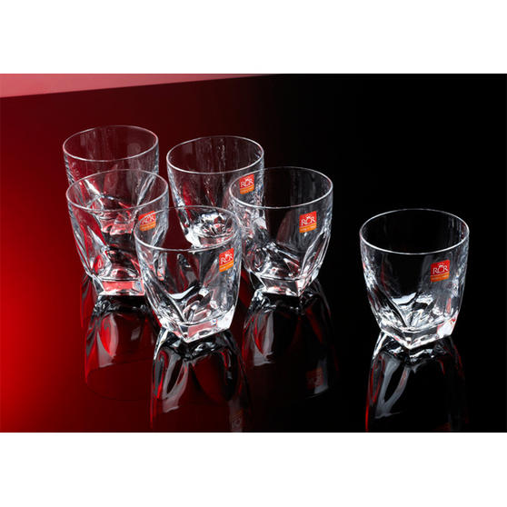 RCR Diamante Crystal Whiskey Glasses Set Of 6