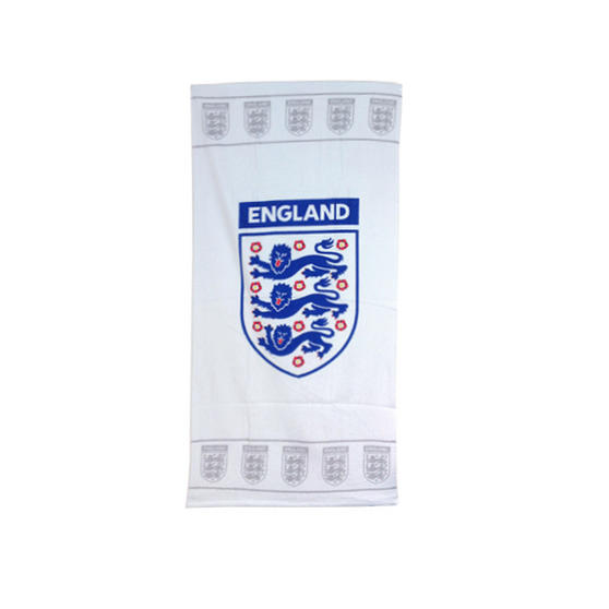 England 3 Lions Printed Towel in White