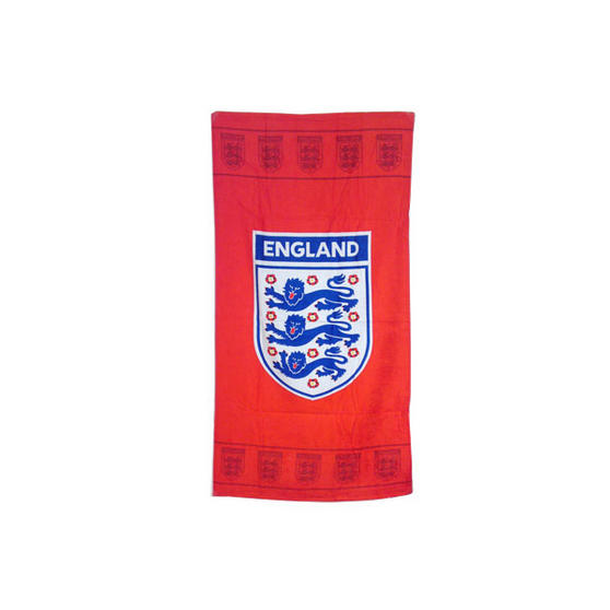 Zap 277821 Official England 3 Lions Printed Beach Towel, Red