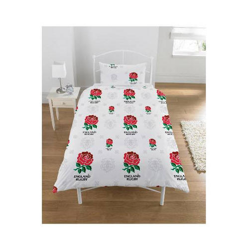 England Rugby Single Duvet Cover And Pillowcase Set