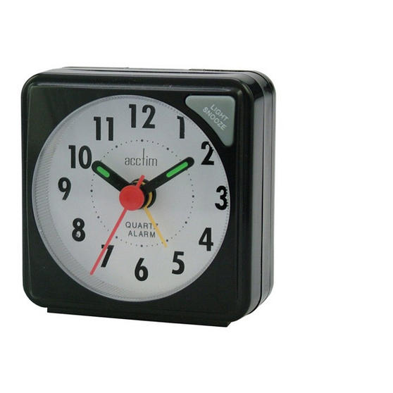 Acctim Ingot Quartz Alarm Clock