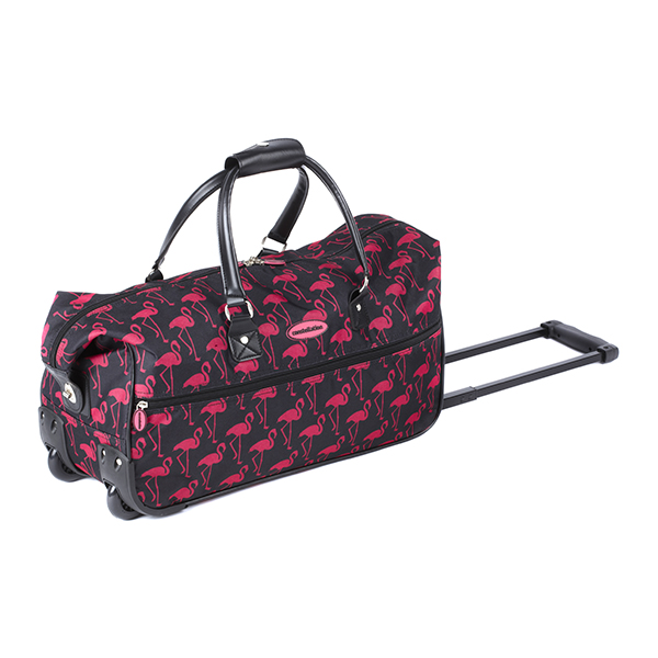 Constellation Flamingo Printed Roller Wheeled Holdall