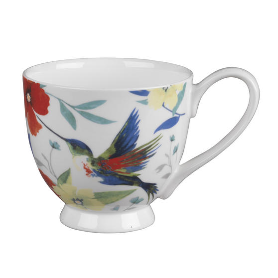 Portobello CM03581 Footed Hummingbird Fine Bone China Mug
