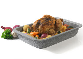 Salter BW02774G Marble Collection Carbon Steel Roasting Pan, 36 cm, Grey Thumbnail 4