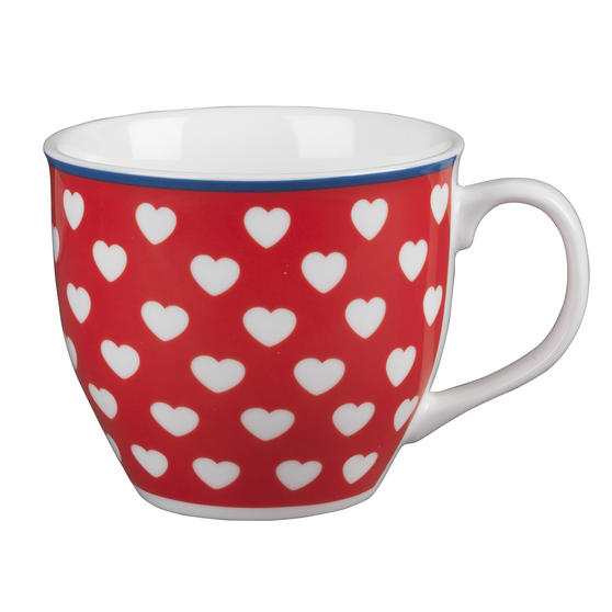 Cambrdige Red Happy Heart Oxford Fine China Mug