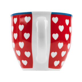 Cambrdige Red Happy Heart Oxford Fine China Mug Thumbnail 3