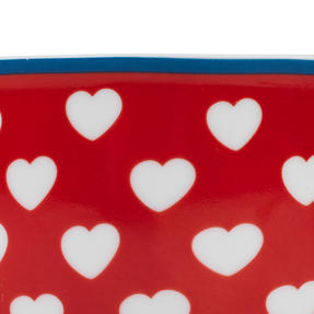 Cambrdige Red Happy Heart Oxford Fine China Mug Thumbnail 5