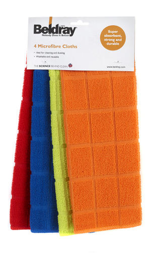 Beldray 4 Pack Microfibre Cloths Assorted Colours Thumbnail 2