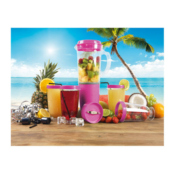 Party Mix Multi Functional Pink Blender Cocktail Maker Set