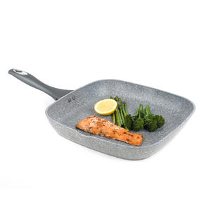 Salter Marble Collection Forged Aluminium Non Stick Griddle Pan, 28 cm, Grey Thumbnail 1