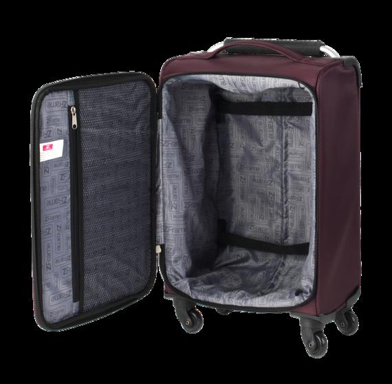 """ZFrame Super Lightweight Luggage Suitcase 18"""" Aubergine"""