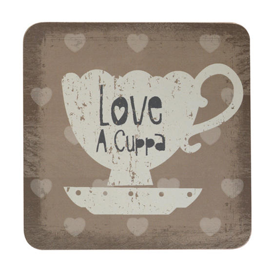 Inspire Set Of 4 Love To Dine Costers 10 x 10cm