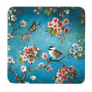 Inspire BCH281890 Luxury Spring Blossom Coasters, 10.5 x 10.5cm, Hardboard, Blue/Pink, Set of 4 Thumbnail 1