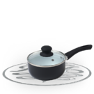 Russell Hobbs Black 18cm Ceramic Coated Sauce Pan