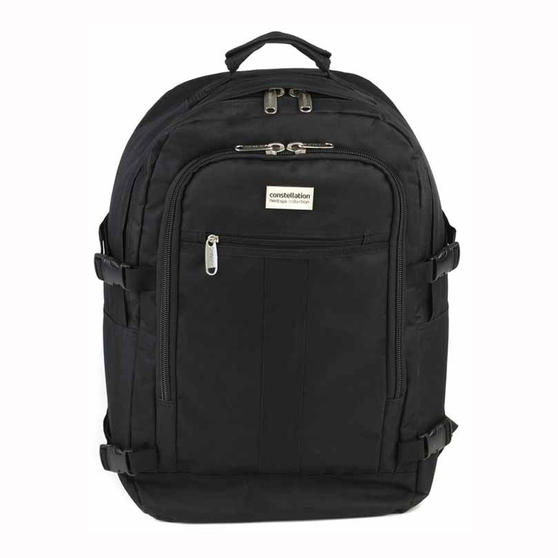 Constellation Rome Flight Backpack With Adjustable Shoulder Straps, Black