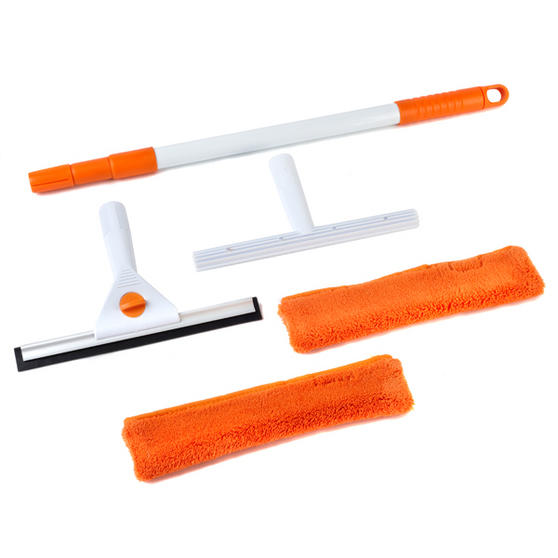 Beldray LA028693 5 Piece Large Window Cleaning Set, Orange/White