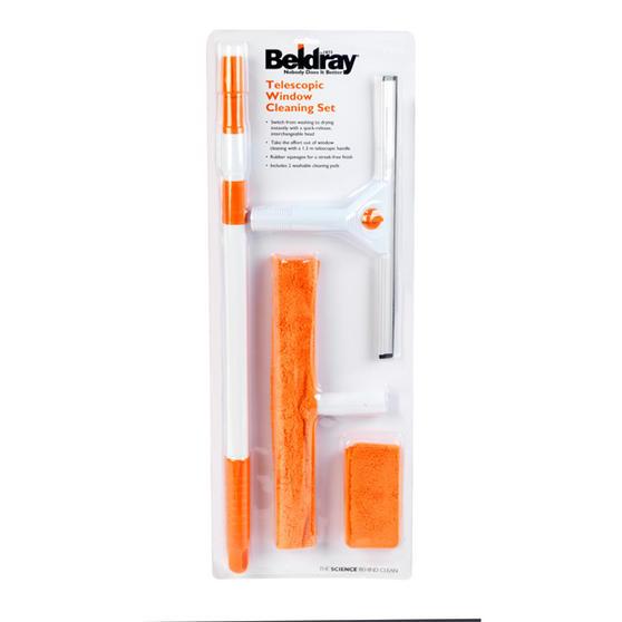 Beldray 5 Piece Large Window Cleaning Set, Orange/White Thumbnail 2