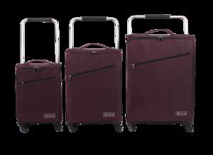 "ZFrame Super Lightweight Suitcase, 22"", Aubergine Thumbnail 3"