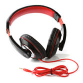 Intempo Black and Red Over-Ear Headphones Thumbnail 2