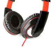 Intempo Black and Red Over-Ear Headphones Thumbnail 3