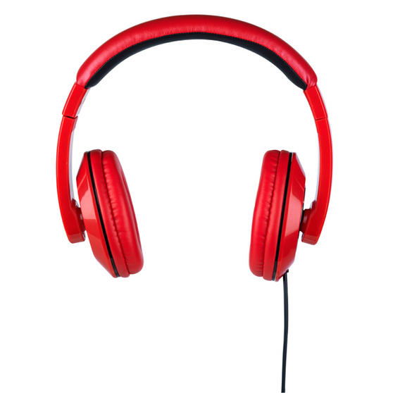 Intempo Red and Black Over-Ear Headphones